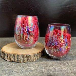 New Sparkle theme Holiday Wine Glasses